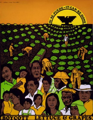 Poster of farmworkers
