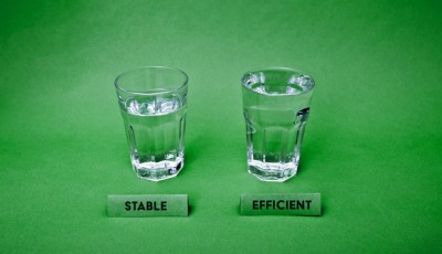 Stable glass and efficient glass