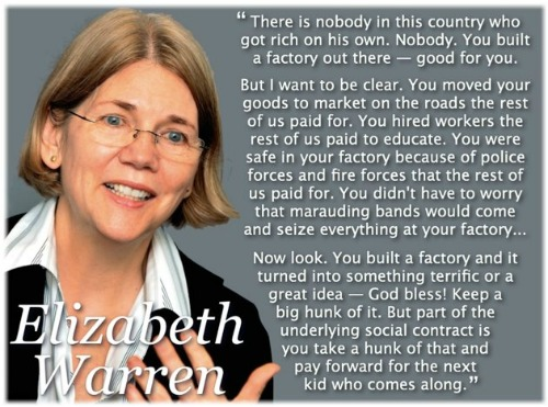 Elizabeth Warren picture with quote