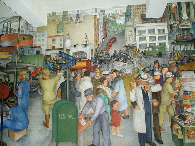 WPA mural in Coit Tower, San Francisco