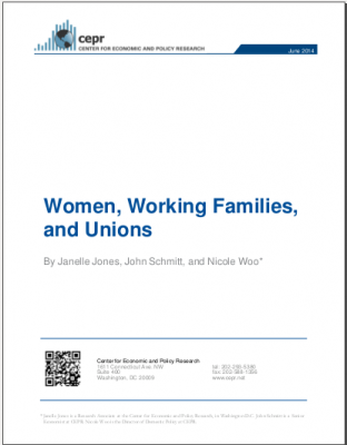 "Cover of ""Women, Working Families, and Unions"""